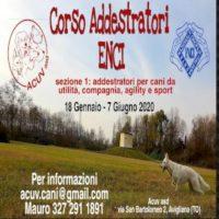 Corso addestratori ENCI ad Avigliana