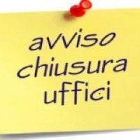 UFFICIO TRIBUTI – CHIUSURA STRAORDINARIA