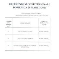 REFERENDUM COSTITUZIONALE 29/03/2020