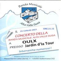 Concerto bandistico a Oulx